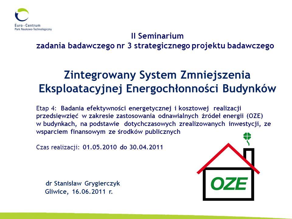 2 Podmiot odpowiedzialny za wykonanie etapu: Park Naukowo-Technologiczny Euro-Centrum Sp.