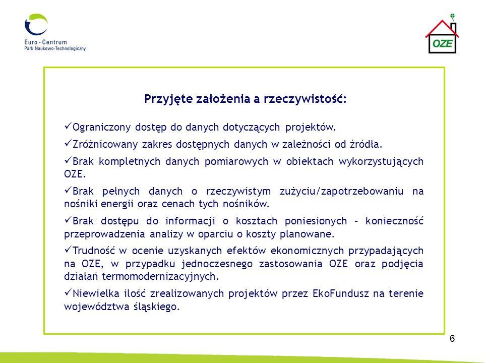 7 Wnioski: W wyniku realizacji pracy badawczej, stwierdzono: 1.Duży zakres realizowanych przedsięwzięć modernizacyjnych w budynkach z zastosowaniem OZE.