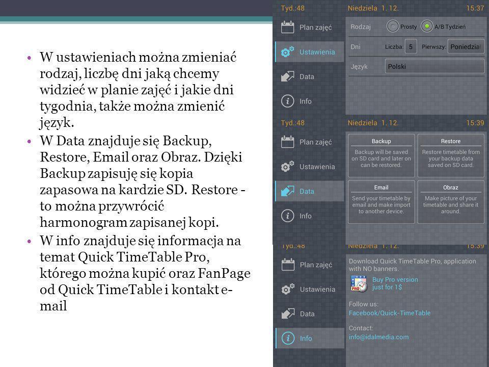 Można też posiadać widget na pulpicie z tej aplikacji.