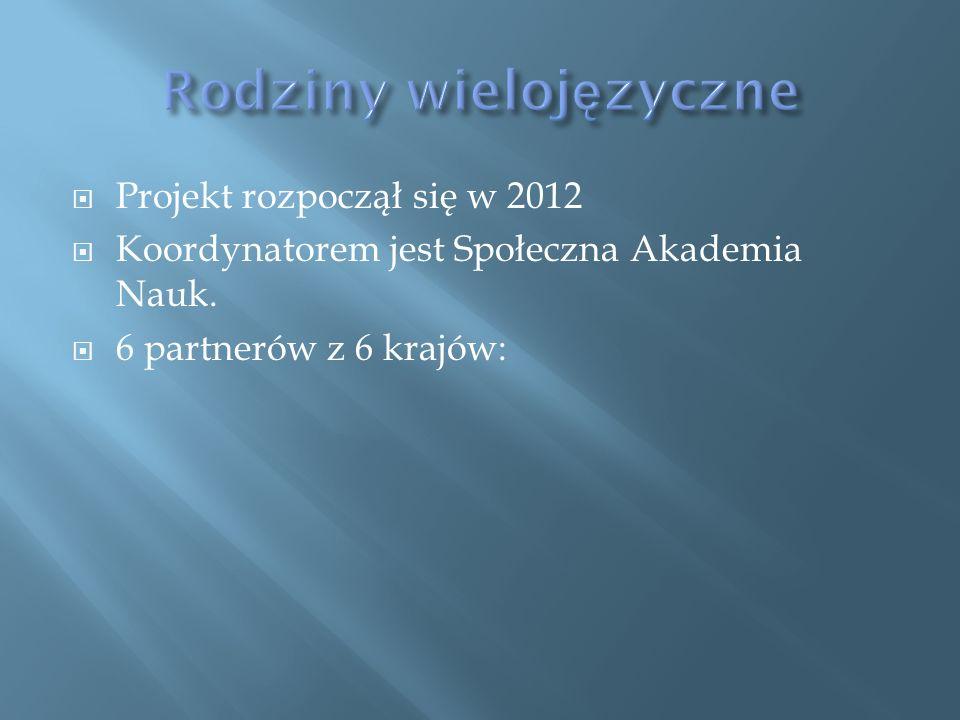 Projekt rozpoczął się w 2012 Koordynatorem jest Społeczna Akademia Nauk. 6 partnerów z 6 krajów:
