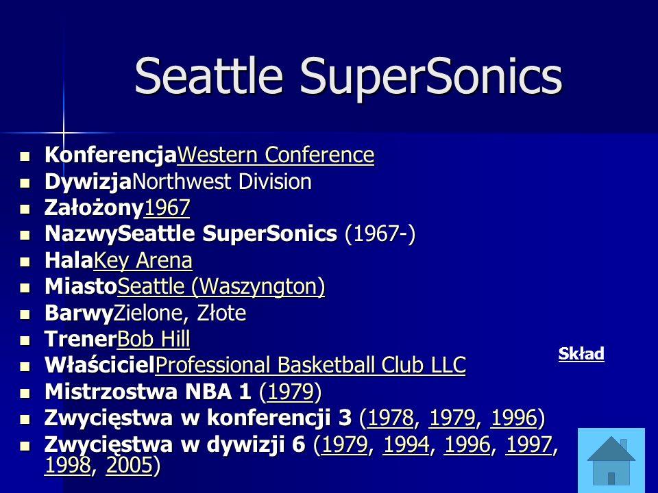 Seattle SuperSonics KonferencjaWestern Conference KonferencjaWestern ConferenceWestern ConferenceWestern Conference DywizjaNorthwest Division DywizjaN