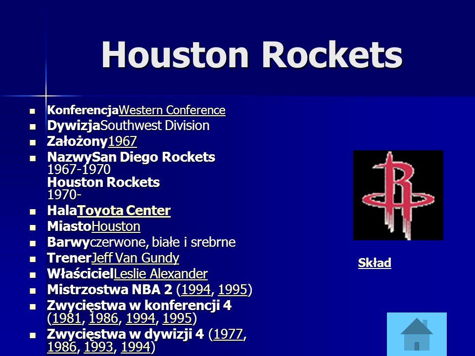 Houston Rockets KonferencjaWestern Conference KonferencjaWestern ConferenceWestern ConferenceWestern Conference DywizjaSouthwest Division DywizjaSouth