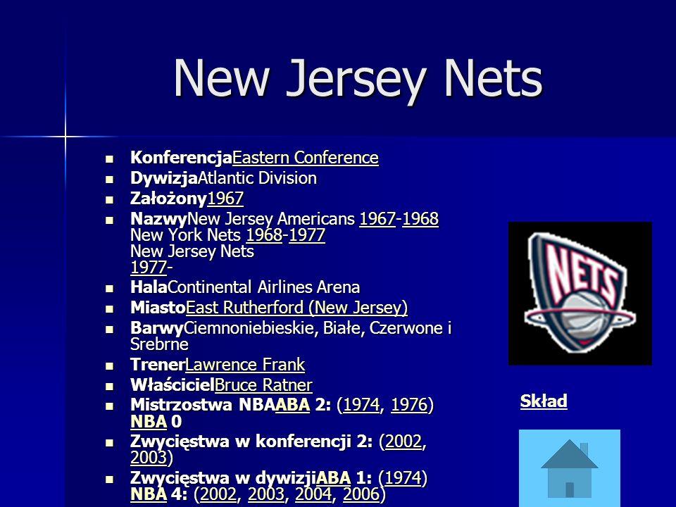 New Jersey Nets KonferencjaEastern Conference KonferencjaEastern ConferenceEastern ConferenceEastern Conference DywizjaAtlantic Division DywizjaAtlant