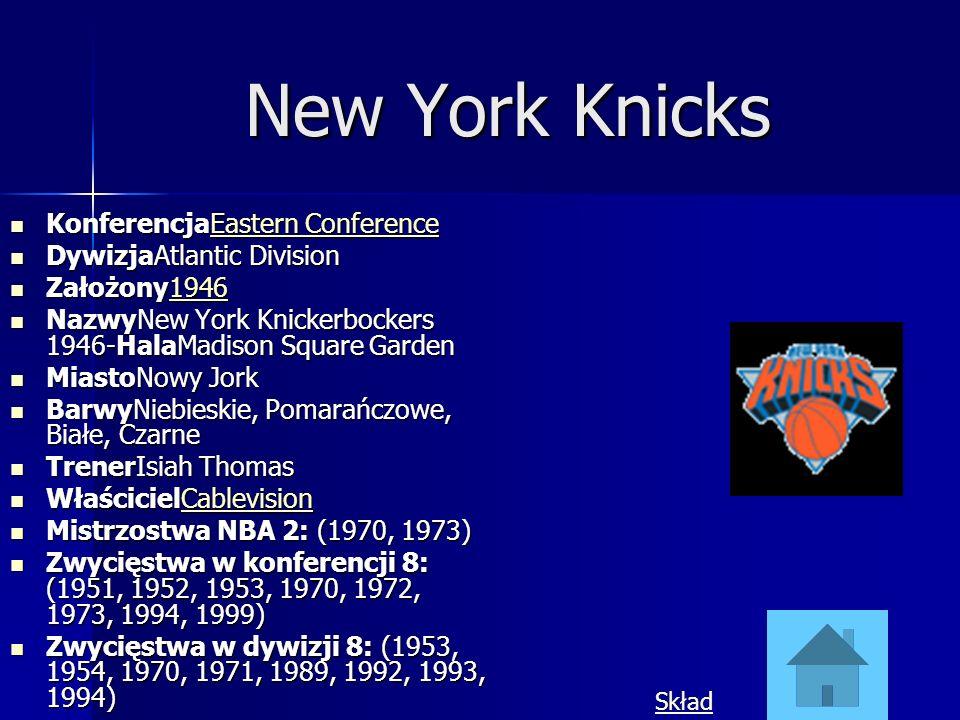 New York Knicks KonferencjaEastern Conference KonferencjaEastern ConferenceEastern ConferenceEastern Conference DywizjaAtlantic Division DywizjaAtlant
