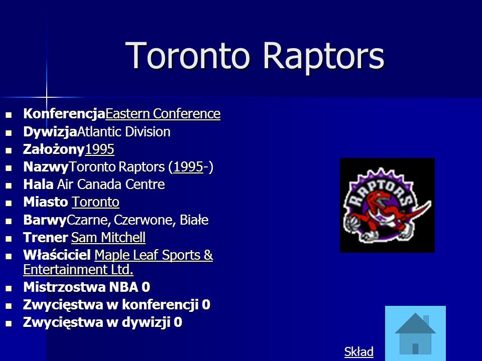 Toronto Raptors KonferencjaEastern Conference KonferencjaEastern ConferenceEastern ConferenceEastern Conference DywizjaAtlantic Division DywizjaAtlant