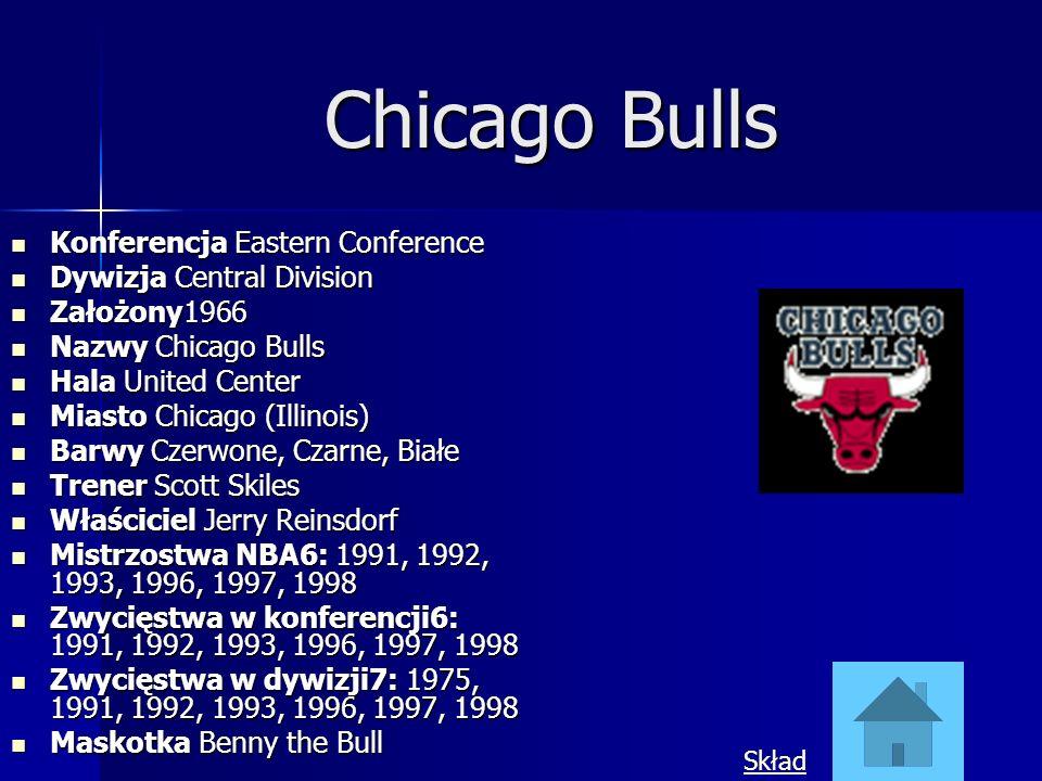 Chicago Bulls Konferencja Eastern Conference Konferencja Eastern Conference Dywizja Central Division Dywizja Central Division Założony1966 Założony196