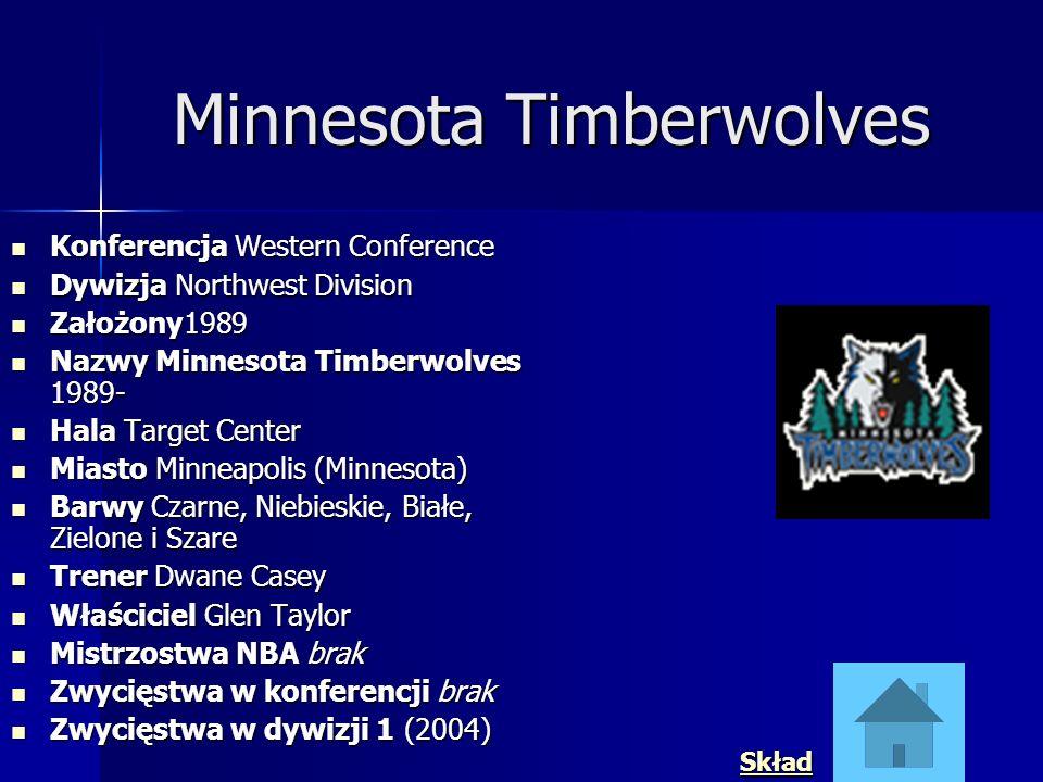 Minnesota Timberwolves Konferencja Western Conference Konferencja Western Conference Dywizja Northwest Division Dywizja Northwest Division Założony198