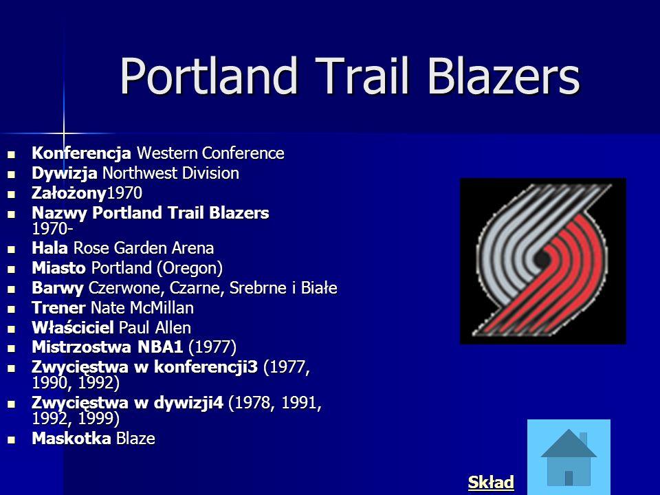 Portland Trail Blazers Konferencja Western Conference Konferencja Western Conference Dywizja Northwest Division Dywizja Northwest Division Założony197