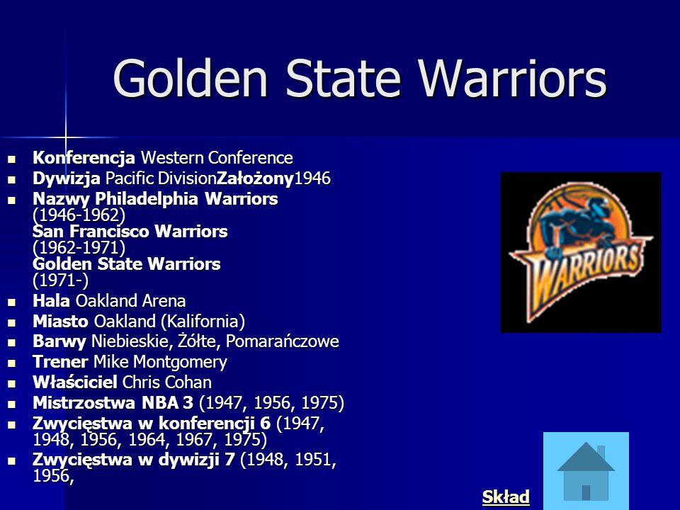 Golden State Warriors Konferencja Western Conference Konferencja Western Conference Dywizja Pacific DivisionZałożony1946 Dywizja Pacific DivisionZałoż