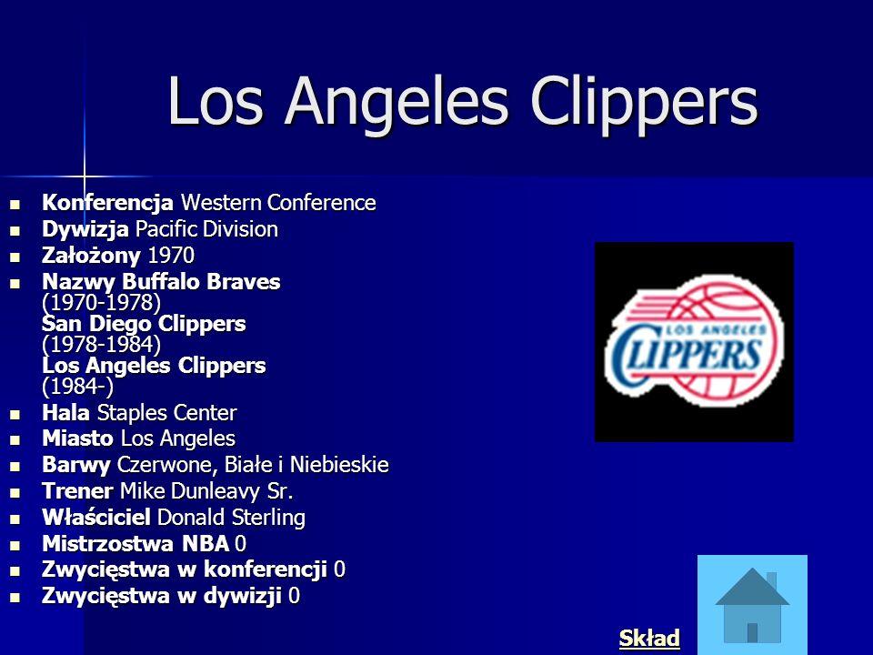 Los Angeles Clippers Konferencja Western Conference Konferencja Western Conference Dywizja Pacific Division Dywizja Pacific Division Założony 1970 Zał
