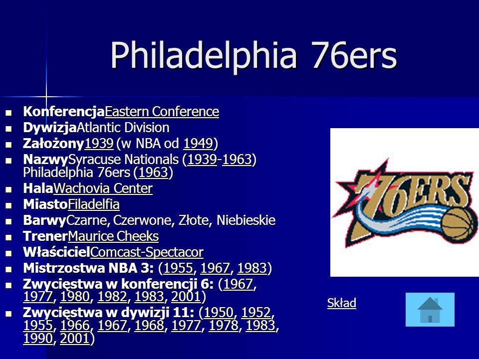 Philadelphia 76ers KonferencjaEastern Conference KonferencjaEastern ConferenceEastern ConferenceEastern Conference DywizjaAtlantic Division DywizjaAtl