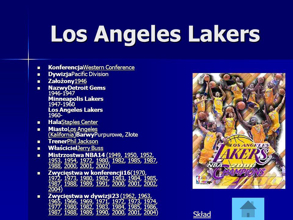 Los Angeles Lakers KonferencjaWestern Conference KonferencjaWestern ConferenceWestern ConferenceWestern Conference DywizjaPacific Division DywizjaPaci