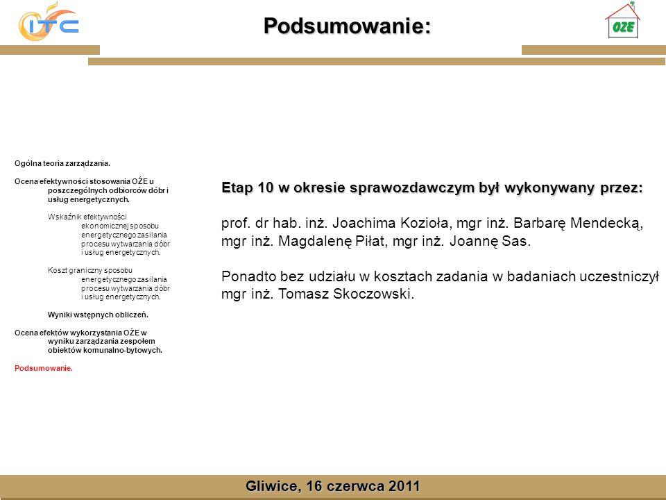 Gliwice, Lipiec 2008 Podsumowanie: Gliwice, 16 czerwca 2011 Ogólna teoria zarządzania.
