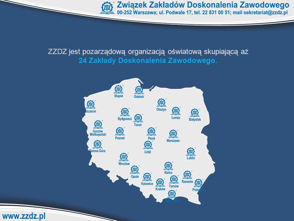 ZZDZ jest pozarządową organizacją oświatową skupiającą aż 24 Zakłady Doskonalenia Zawodowego.