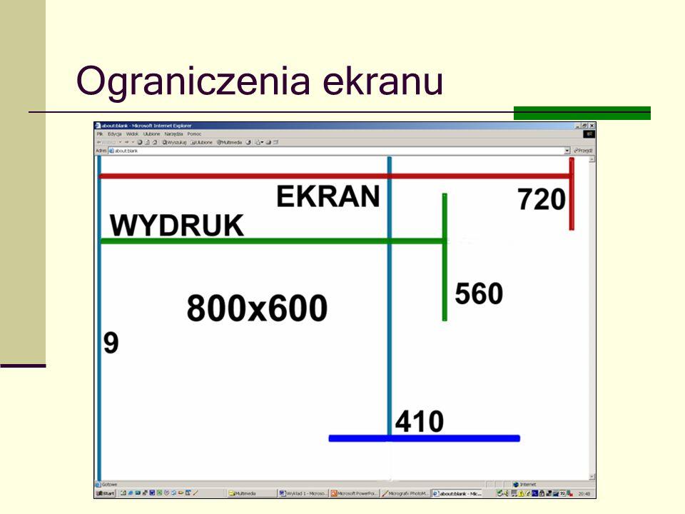 Joanna Brzozowska doradcazawodowy@onet.eu Ograniczenia ekranu