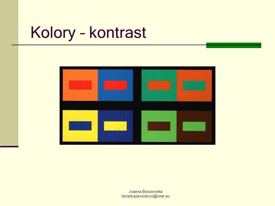 Joanna Brzozowska doradcazawodowy@onet.eu Kolory – kontrast