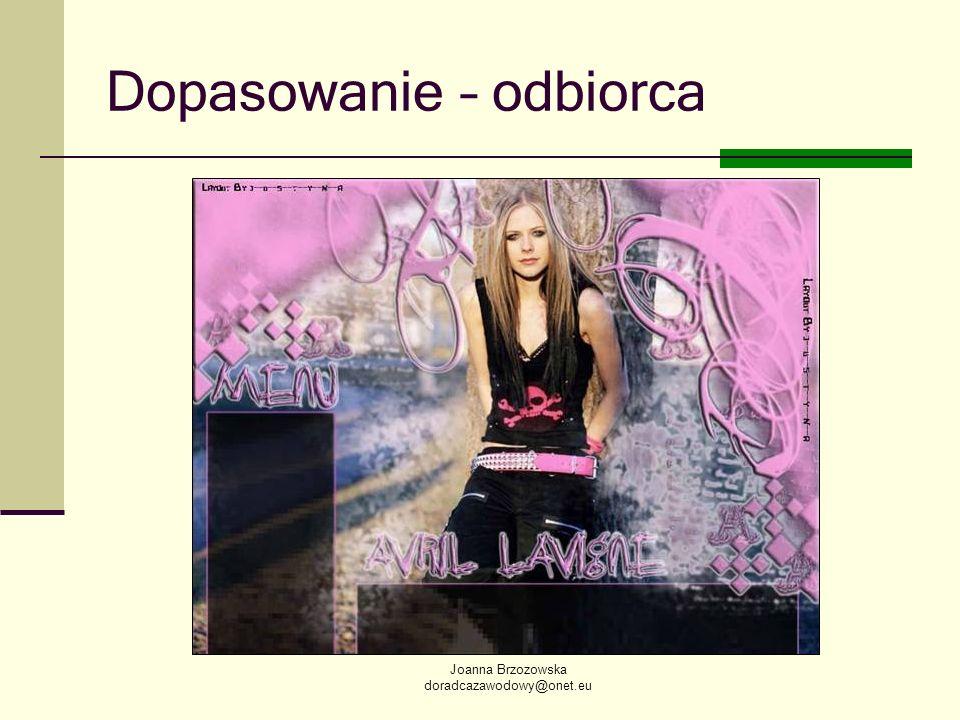Joanna Brzozowska doradcazawodowy@onet.eu Dopasowanie – odbiorca