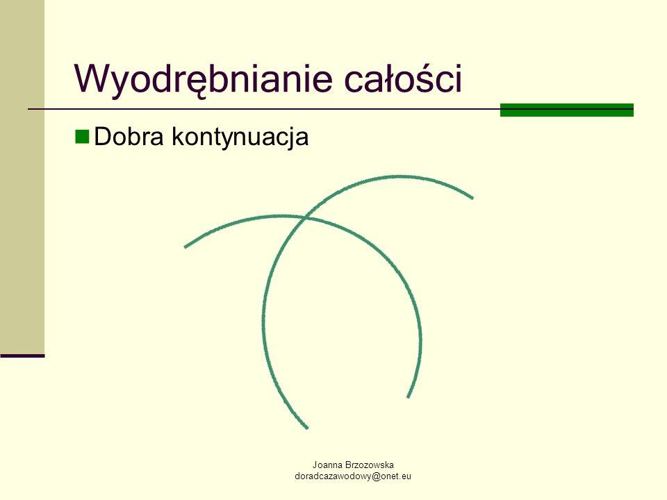 Joanna Brzozowska doradcazawodowy@onet.eu Wyodrębnianie całości Dobra kontynuacja