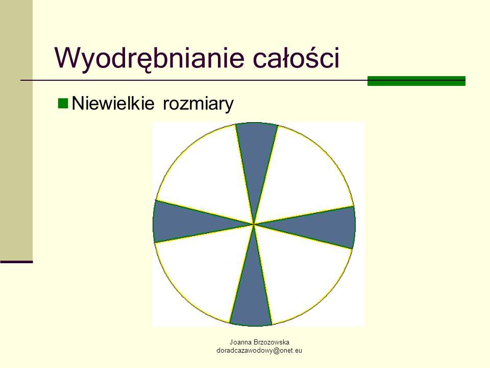 Joanna Brzozowska doradcazawodowy@onet.eu Wyodrębnianie całości Niewielkie rozmiary