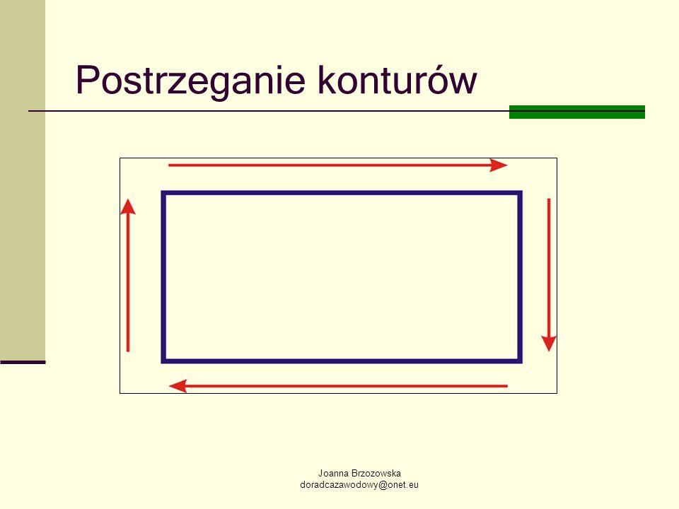 Joanna Brzozowska doradcazawodowy@onet.eu Postrzeganie konturów
