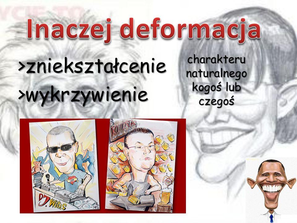 - artysta zajmujący się tworzeniem karykatur portretowych i sytuacyjnych bardzo często na oczach widzów Lyonel Feininger Arkadiusz Gacparski Jerzy Zaruba
