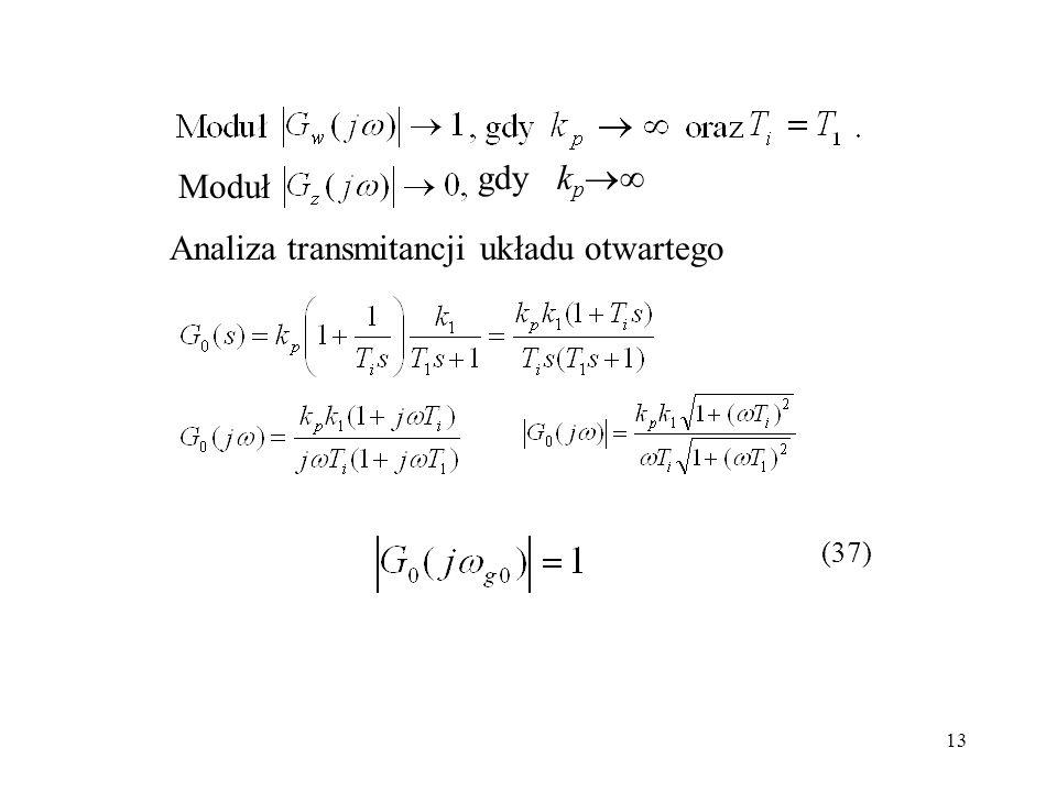 13 Moduł k p gdy Analiza transmitancji układu otwartego (37)