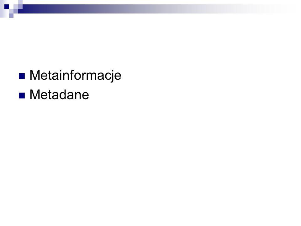 Metainformacje Metadane