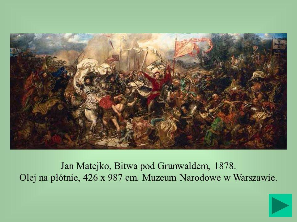Jan Matejko, Bitwa pod Grunwaldem, 1878. Olej na płótnie, 426 x 987 cm. Muzeum Narodowe w Warszawie.