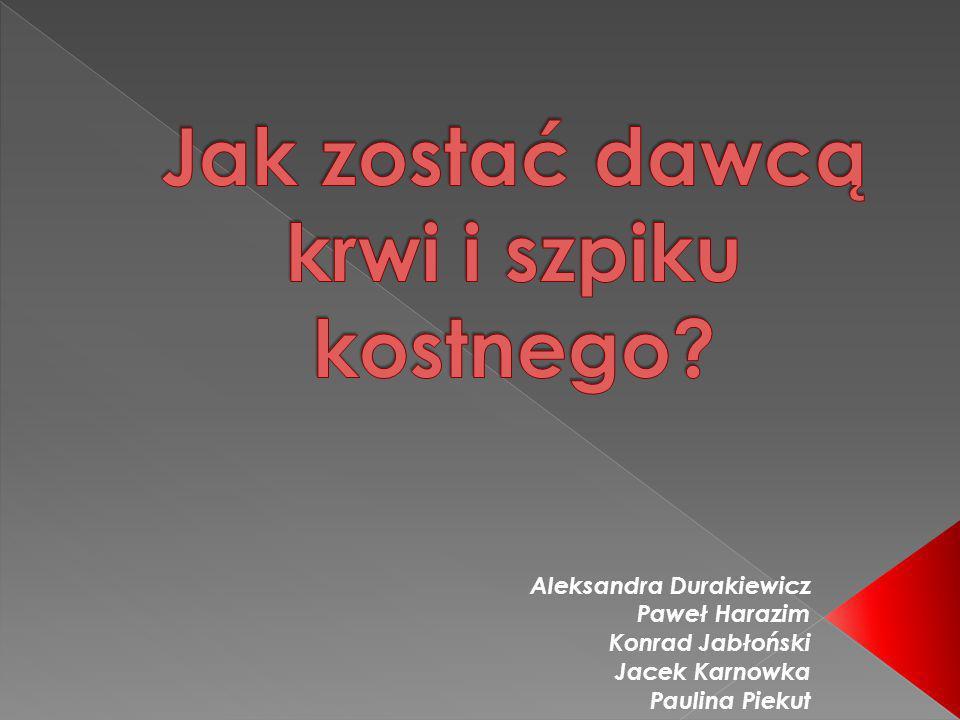 Aleksandra Durakiewicz Paweł Harazim Konrad Jabłoński Jacek Karnowka Paulina Piekut