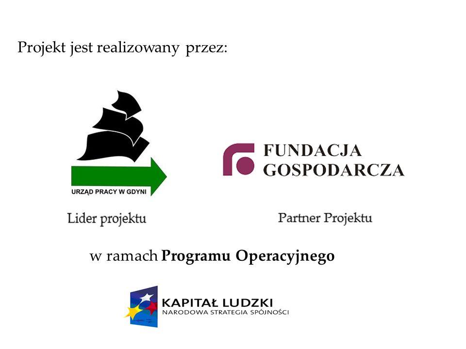 Projekt jest realizowany przez: w ramach Programu Operacyjnego