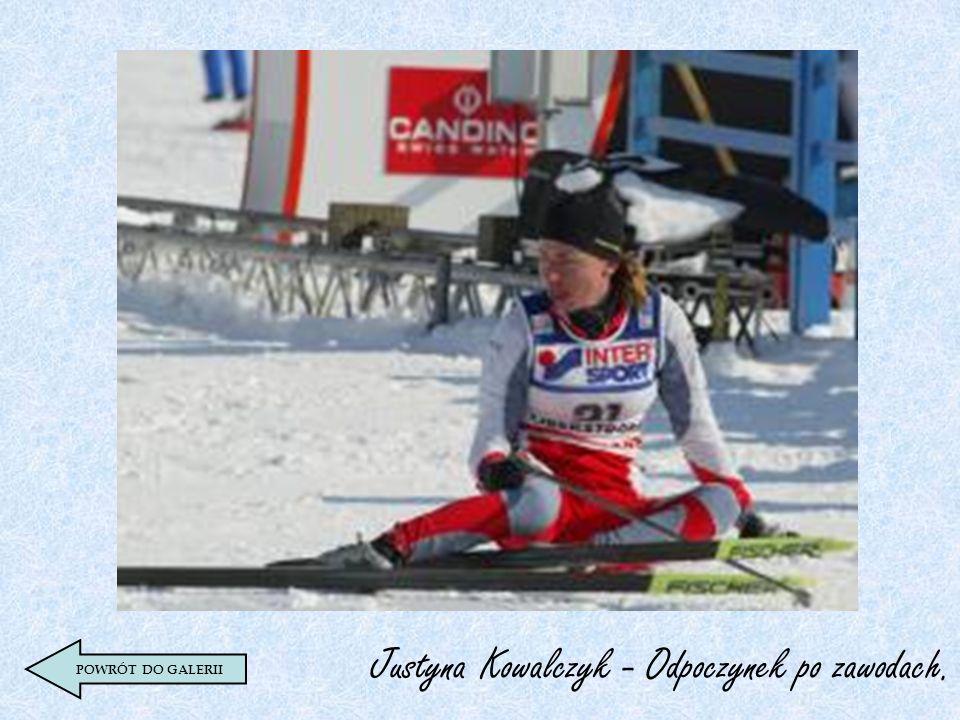 Justyna Kowalczyk - Odpoczynek po zawodach. POWRÓT DO GALERII