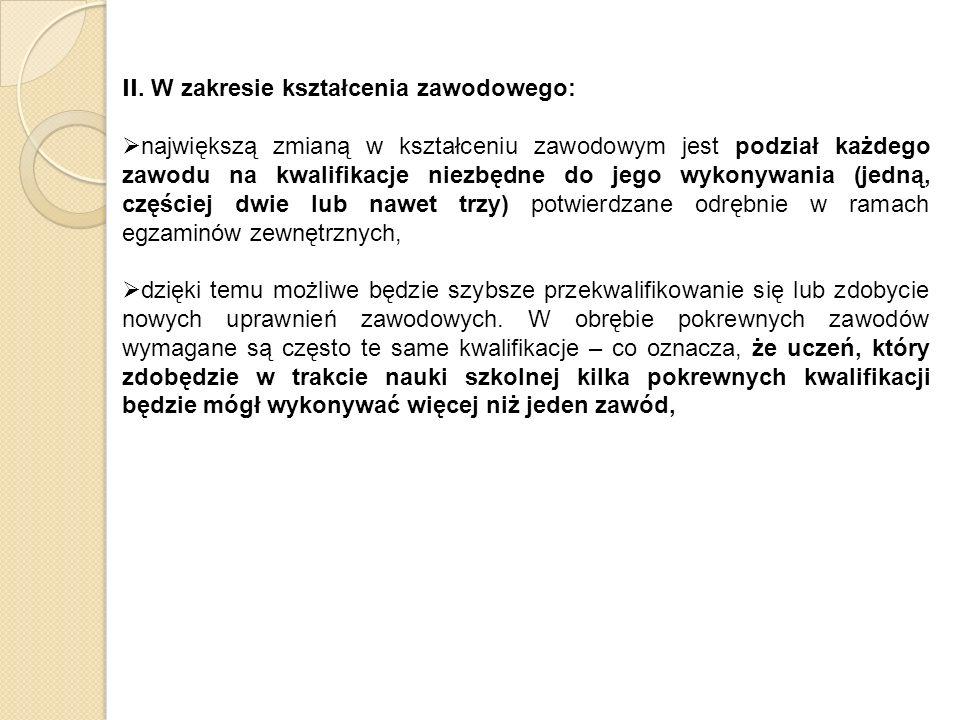 Przykład: Zawody: elektromechanik i elektryk.