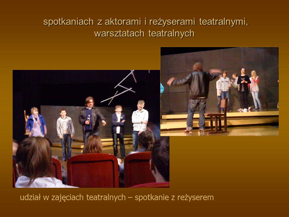 wyjścia do teatrów i opery spotkanie z aktorami za kulisami Teatru Muzycznego w Gdyni