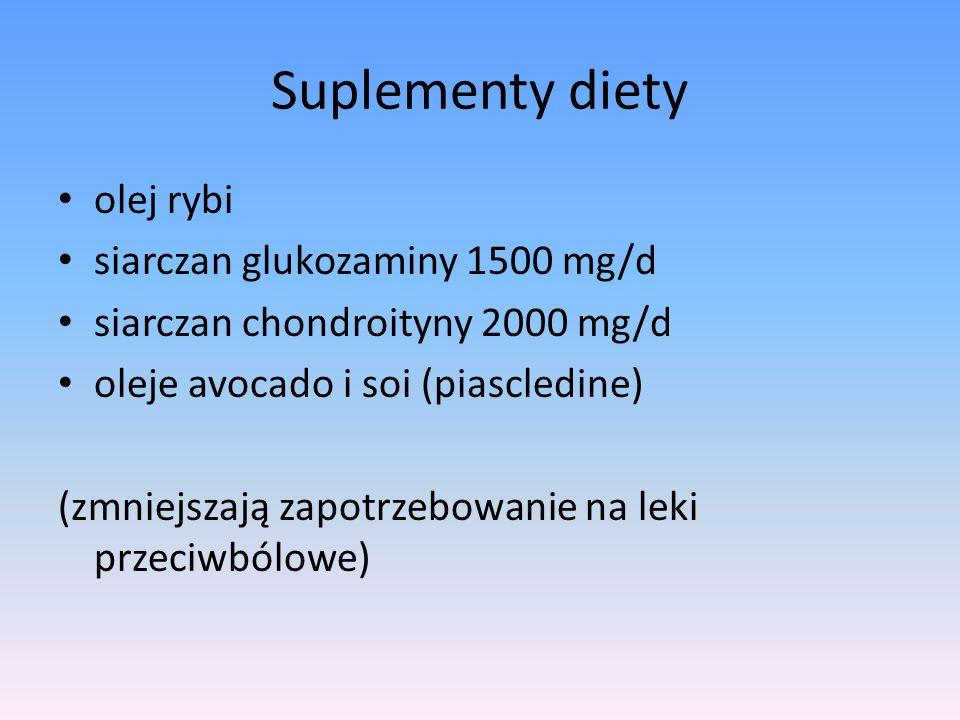 Ko-analgetyki TCA trójcykliczne leki przeciwdepresyjne SNRI inhibitory zwrotnego wychwytu serotoniny i noradrenaliny SSRI selektywne inhibitory zwrotnego wychwytu serotoniny Leki zmniejszające napięcie mięśni szkieletowych tolperyzon (50-100 mg 3 razy dziennie), tetrazepam (50-100 mg na dobę) tyzanidyna (2-4 mg 3 razy dziennie).