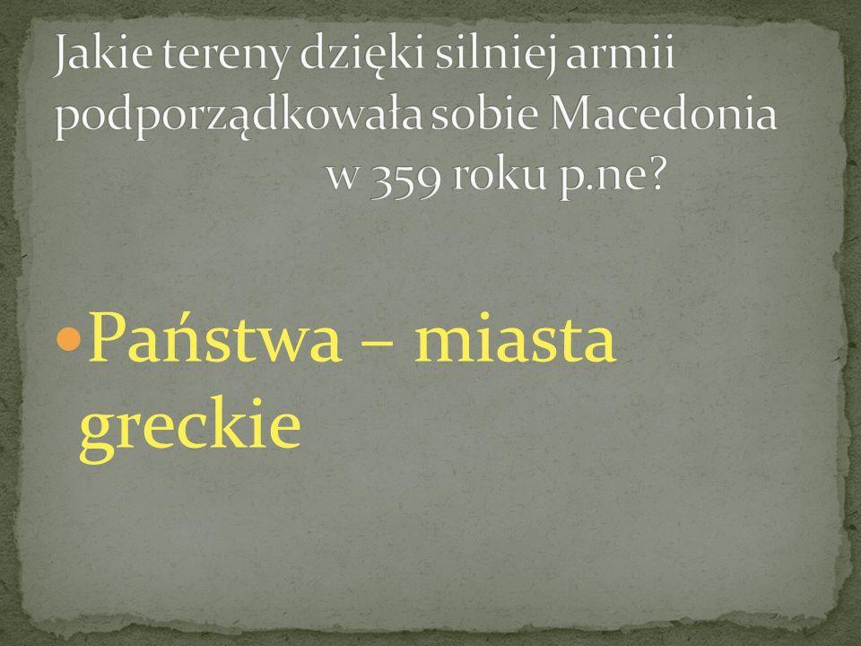 Państwa – miasta greckie