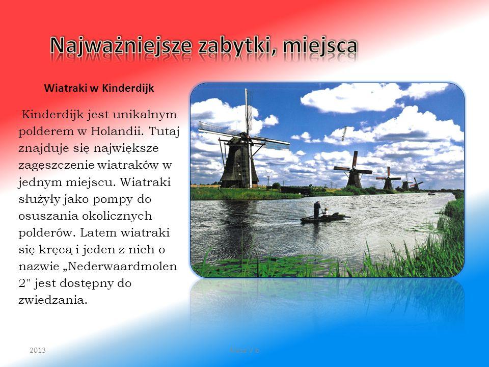 Wiatraki w Kinderdijk Kinderdijk jest unikalnym polderem w Holandii. Tutaj znajduje się największe zagęszczenie wiatraków w jednym miejscu. Wiatraki s