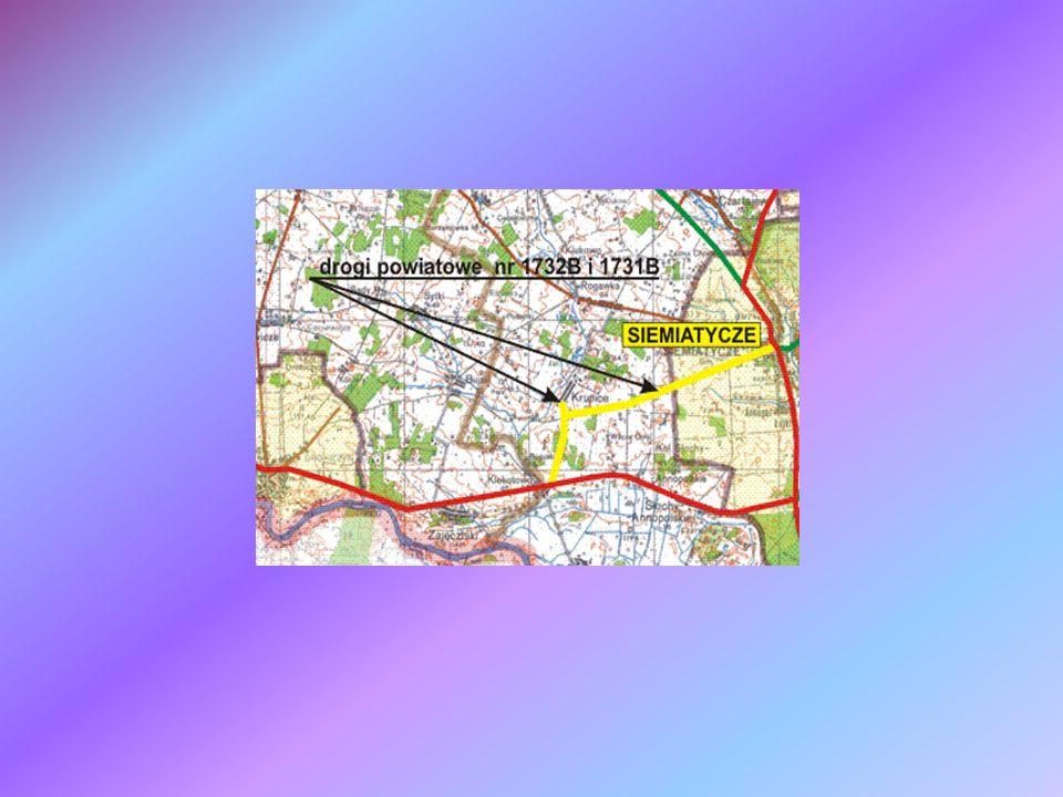 Mapa lokalizująca Zadanie 1 Gmina Siemiatycze Miasto Siemiatycze