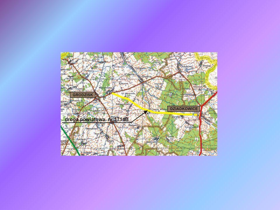 Mapa lokalizująca Zadanie 2 Gmina Dziadkowice Gmina Grodzisk