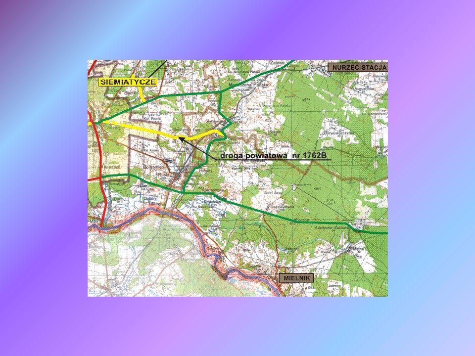 Mapa lokalizująca Zadanie 4 Gmina Nurzec-Stacja Gmina Mielnik Gmina Siemiatycze Miasto Siemiatycze