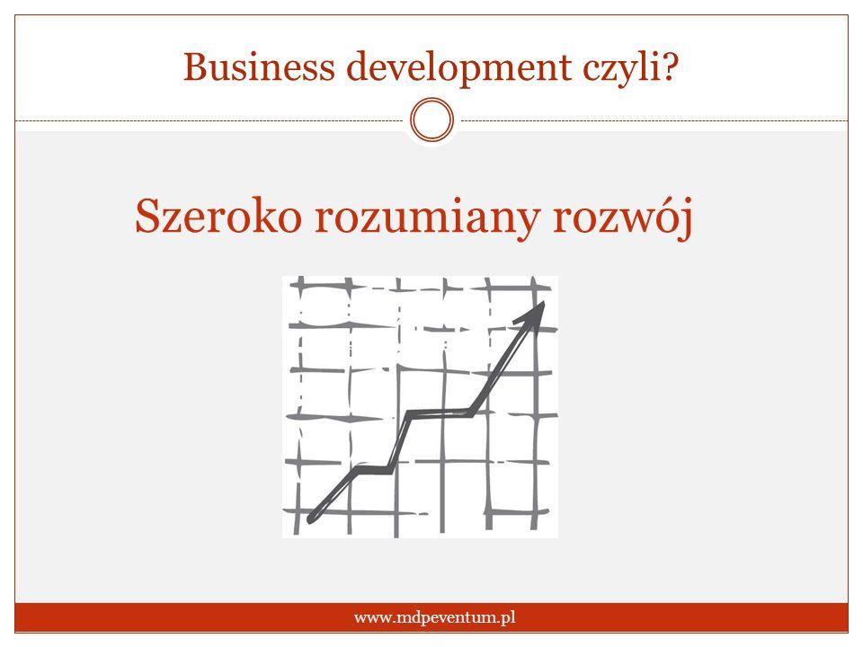 Business development czyli? www.mdpeventum.pl Szeroko rozumiany rozwój