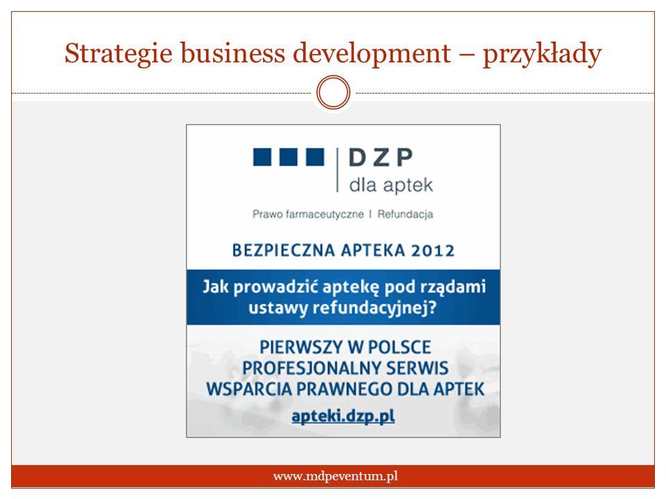 Strategie business development – przykłady www.mdpeventum.pl