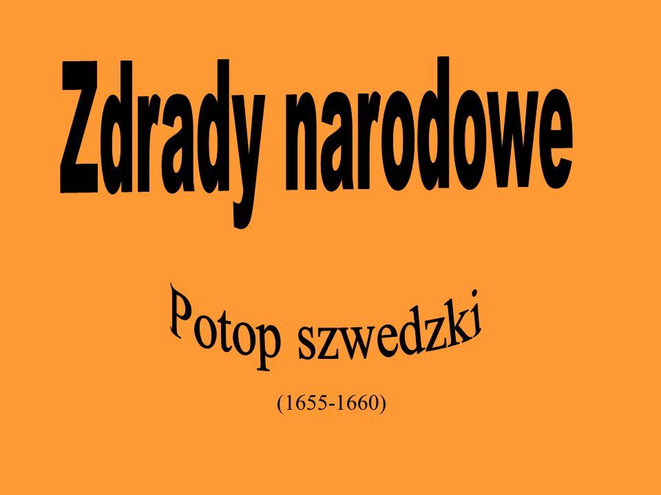 Stosunki polsko-szwedzkie przed Potopem w XVI - XVII Głównymi przyczynami wojen polsko-szwedzkich były: chęć dominacji nad handlem bałtyckim (jak pamiętamy nasze morze Bałtyckie jest bardzo cenne:-)) kwestia Inflant - Polska usilnie starała się je do siebie przyłączyć pretensje polskiej dynastii Wazów do tronu szwedzkiego
