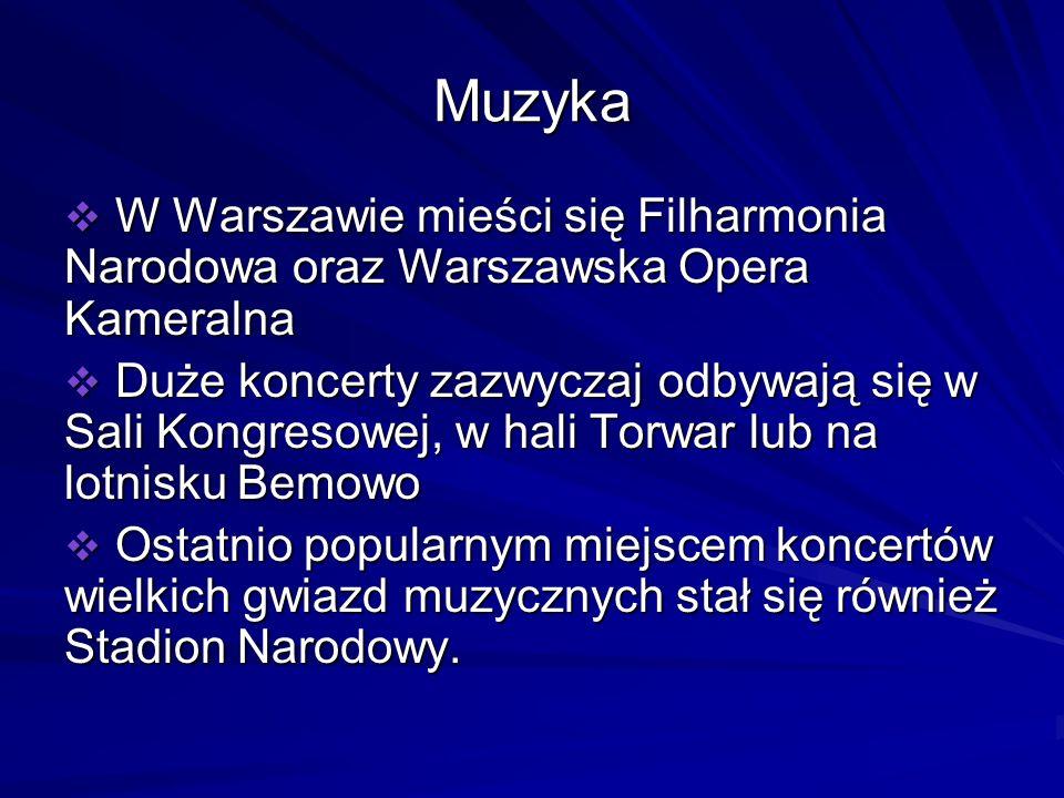 Muzyka W Warszawie mieści się Filharmonia Narodowa oraz Warszawska Opera Kameralna W Warszawie mieści się Filharmonia Narodowa oraz Warszawska Opera K