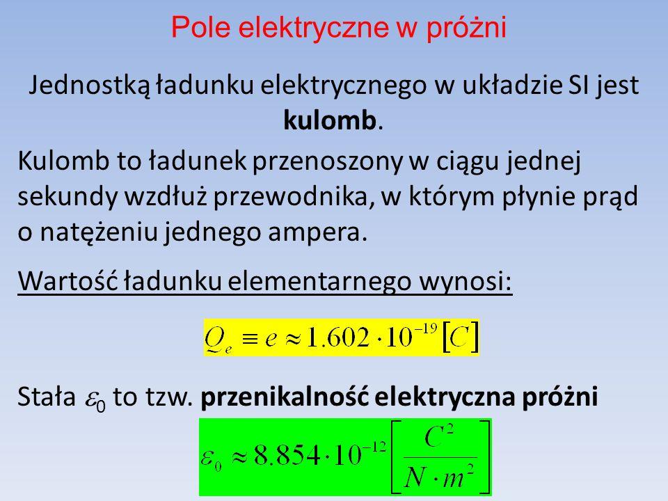 Jednostką ładunku elektrycznego w układzie SI jest kulomb.