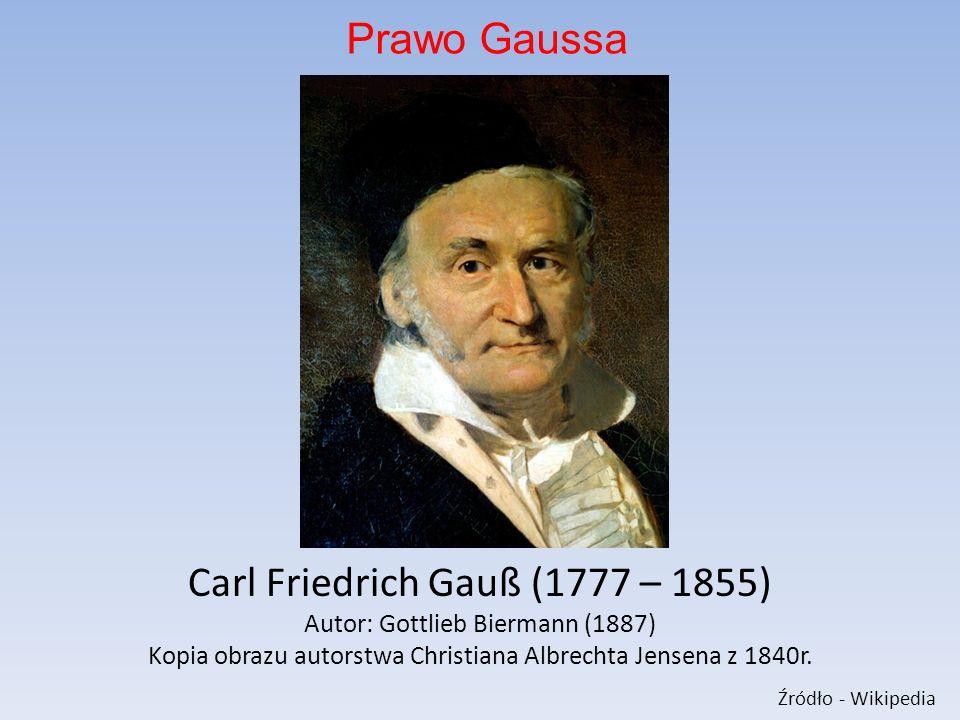 Carl Friedrich Gauß (1777 – 1855) Autor: Gottlieb Biermann (1887) Kopia obrazu autorstwa Christiana Albrechta Jensena z 1840r.
