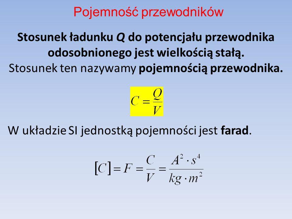 Stosunek ładunku Q do potencjału przewodnika odosobnionego jest wielkością stałą.