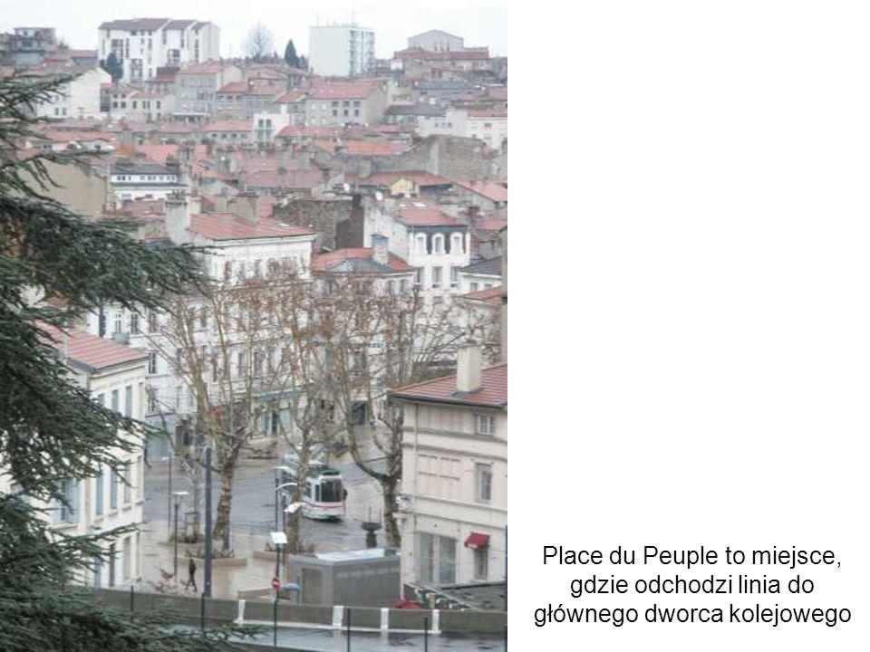 Place du Peuple to miejsce, gdzie odchodzi linia do głównego dworca kolejowego