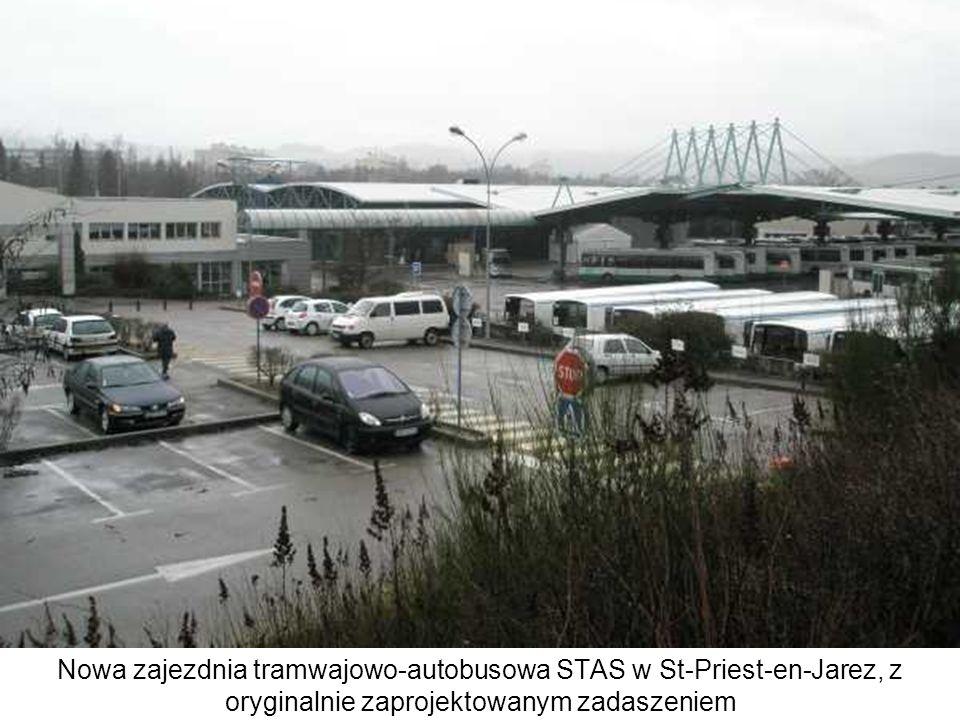 Nowa zajezdnia tramwajowo-autobusowa STAS w St-Priest-en-Jarez, z oryginalnie zaprojektowanym zadaszeniem