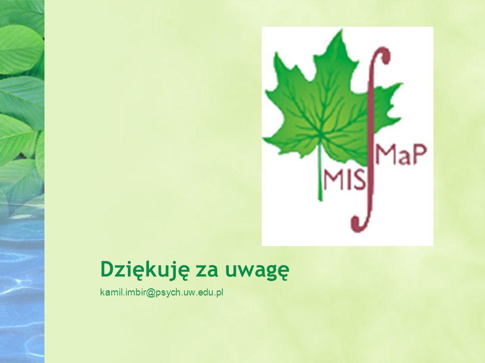 Dziękuję za uwagę kamil.imbir@psych.uw.edu.pl
