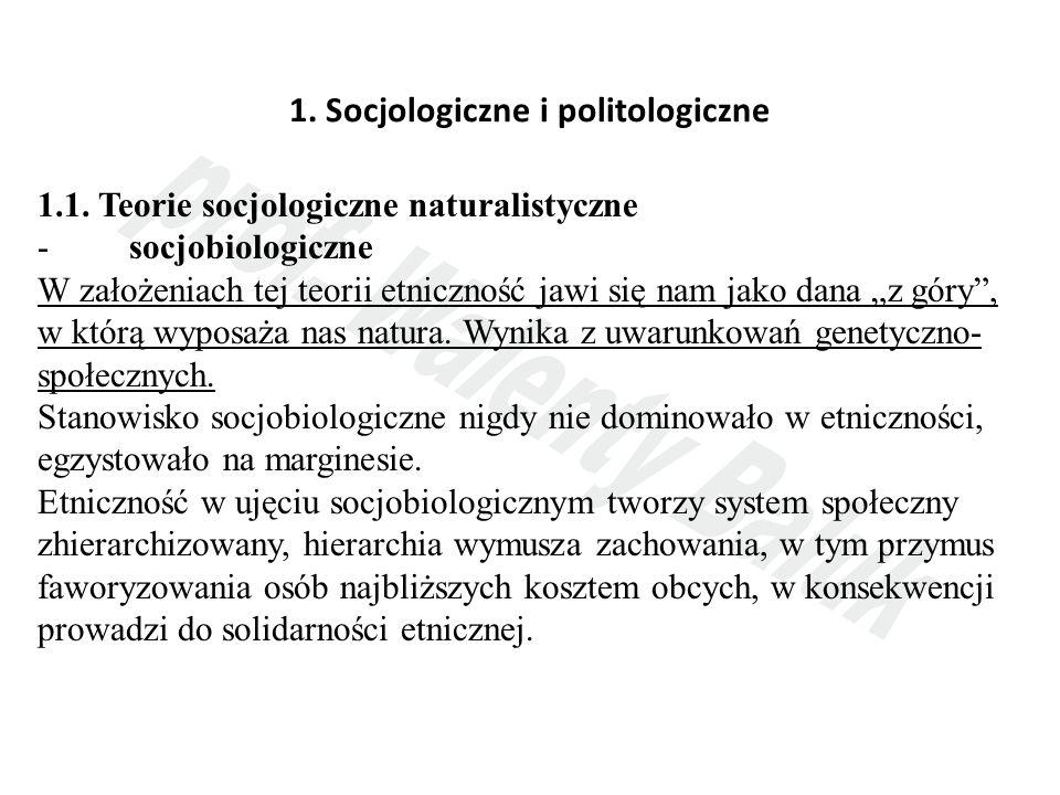 1.Socjologiczne i politologiczne 1.1.